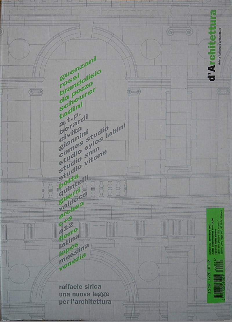 copertine_Darchitettura-settembre-2003